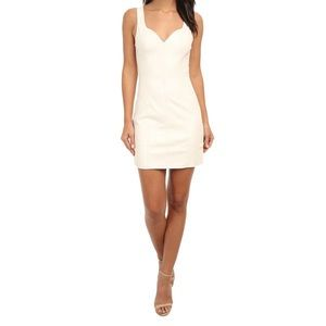 MINKPINK Pearl Of Girl White Faux Leather Dress M